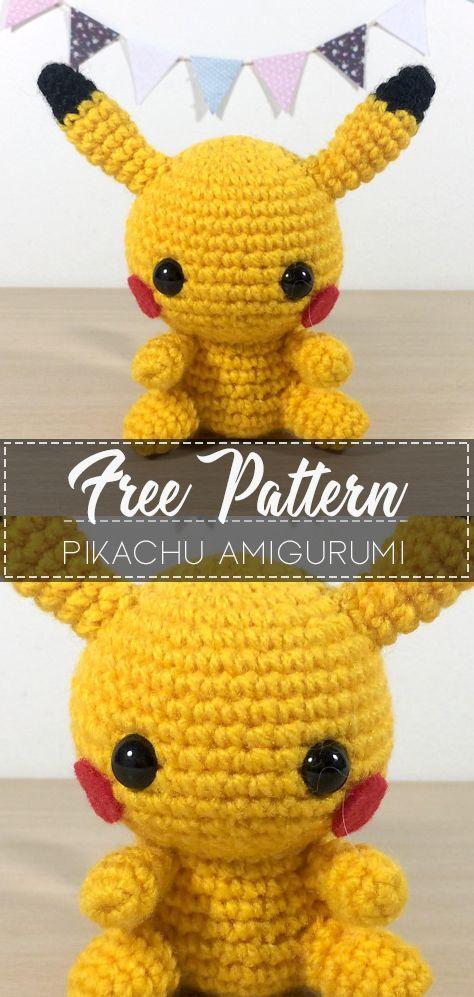 Pikachu Amigurumi – Free Pattern #amigurumicrochet