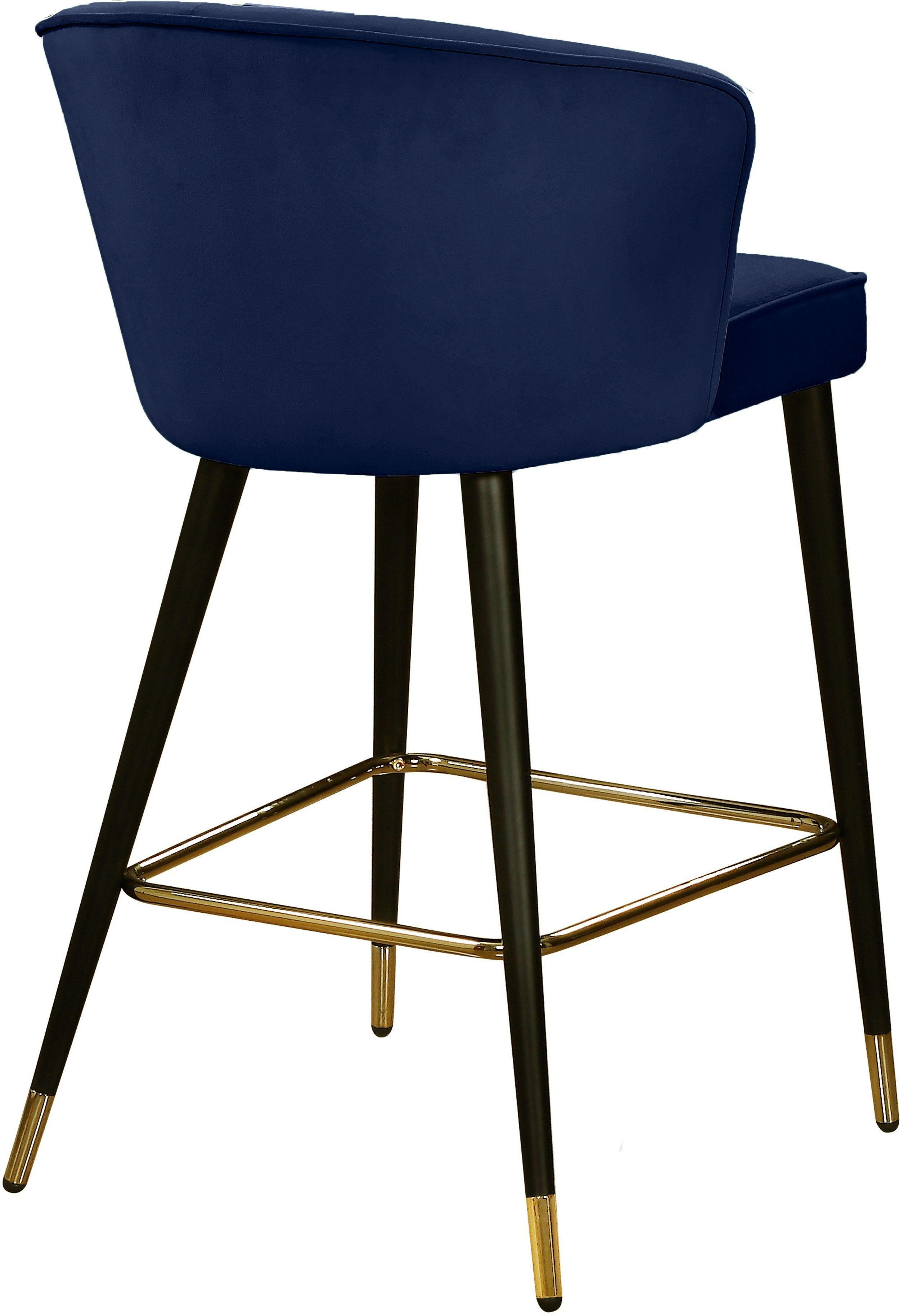 Cassie Navy Bar Stool 793 Meridian Furniture Bar Tables In 2020 Modern Bar Stools Bar Stools Modern Bar