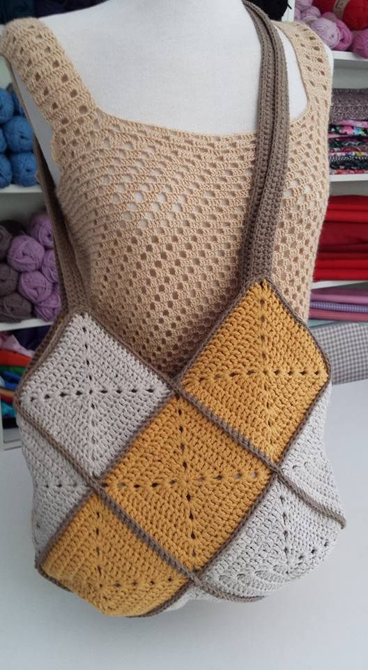 Pin von Sylvia Lopez auf Bolsos a Crochet | Pinterest