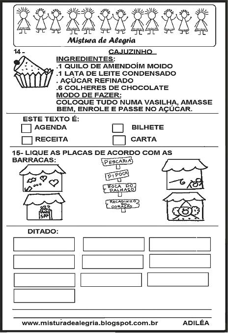 Avaliacao Portugues Festa Junina Avaliacao De Portugues