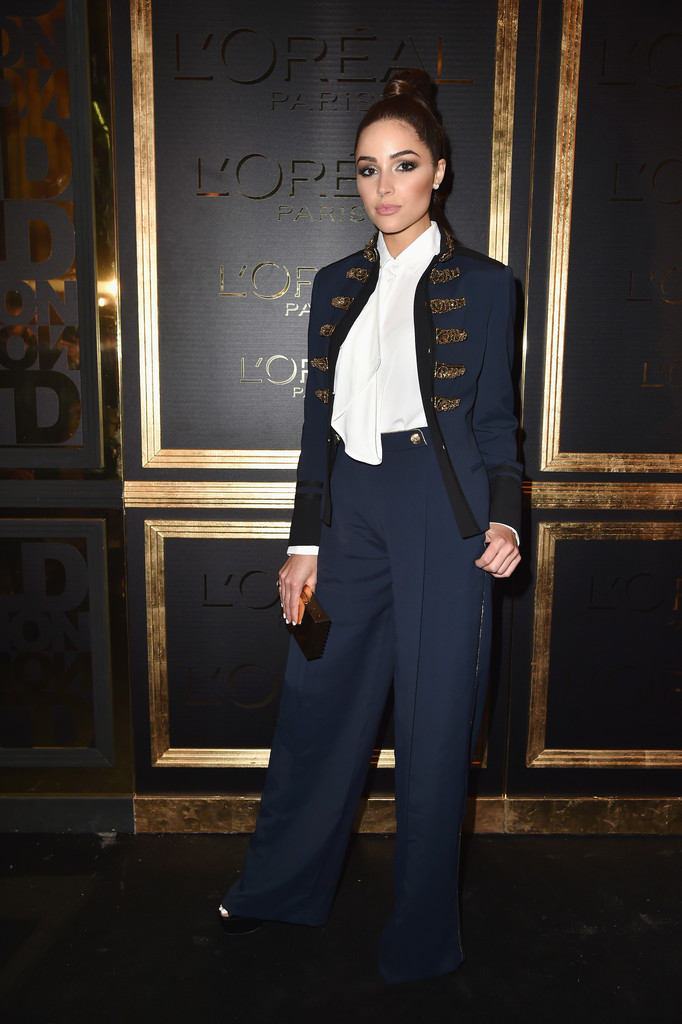 10/2/16 - Olivia Culpo at the L'Oreal Gold Obsession Party in Paris.