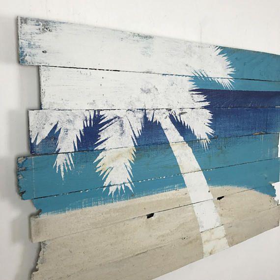 Beach Decor Palm Tree On Sky Sea And Sand Tropical Wall Etsy In 2021 Beach Decor Beach Wall Art Beach Wall Decor