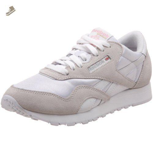 7dabf02020e29 Reebok Women's Classic Nylon Sneaker,White/Light Grey,9 M US ...