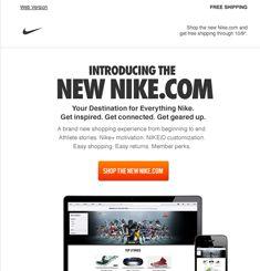 jefe en mentiroso  Nike Newsletter | Email marketing inspiration, Email marketing design, Email  template design