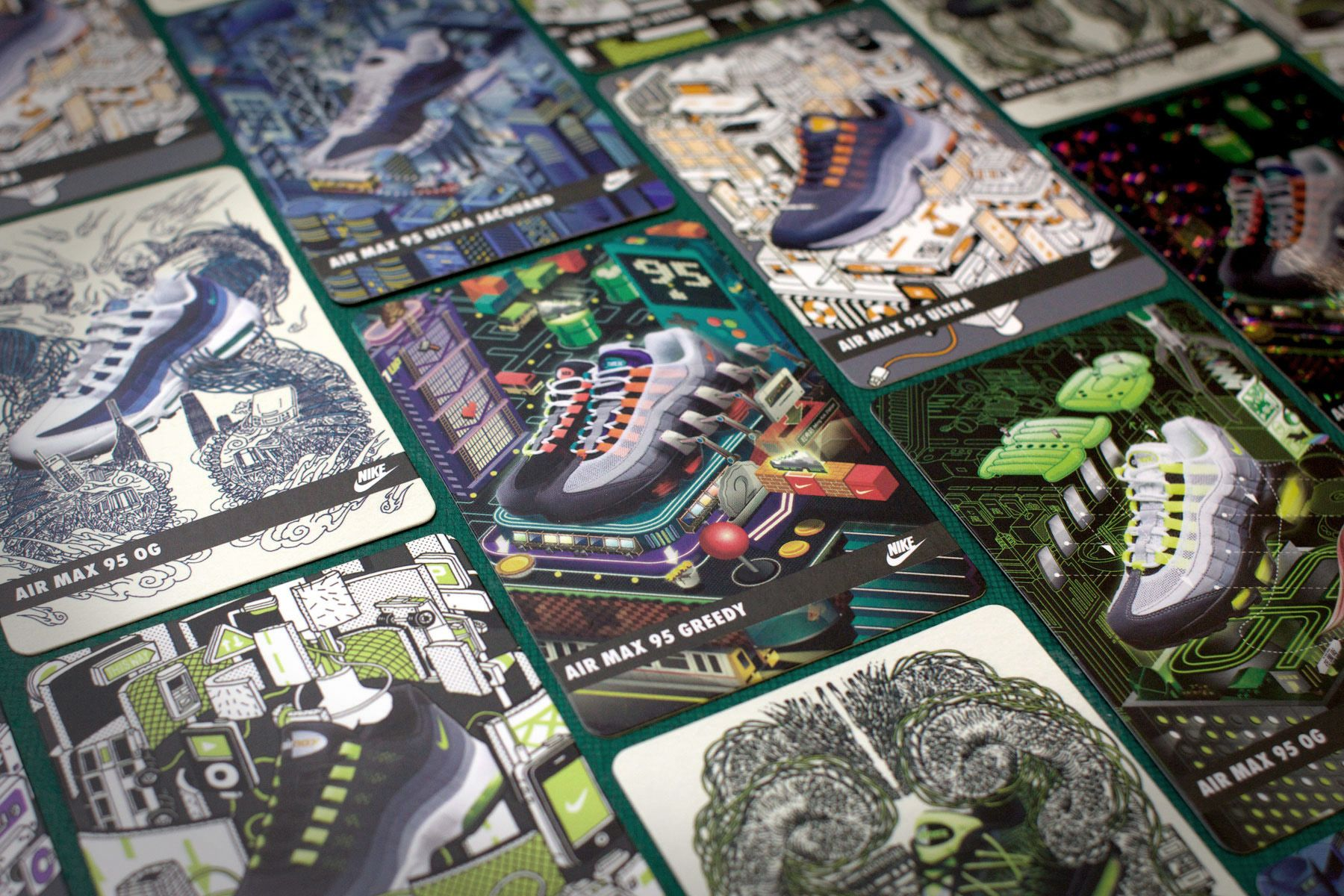 Nike Air Max 95 Collectable Cards. Get them now in Nike Store Causeway Bay or KicksLounge in Tsim Sha Tsui in August 2015! #nike #airmax #airmax95 #sneakerart #shoes #illustration