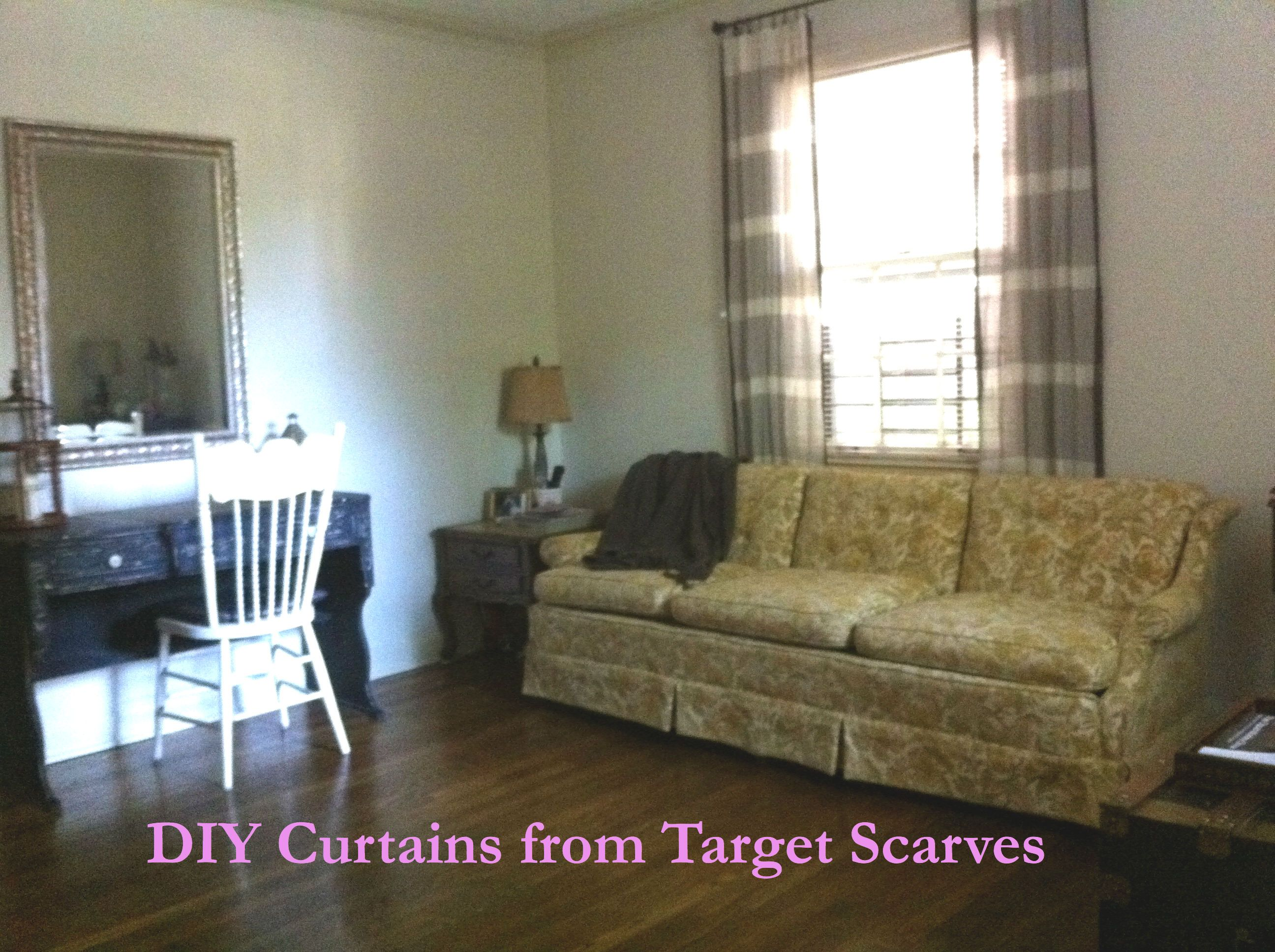 Turn scarves from Target into breezy curtains | Wall decor ...