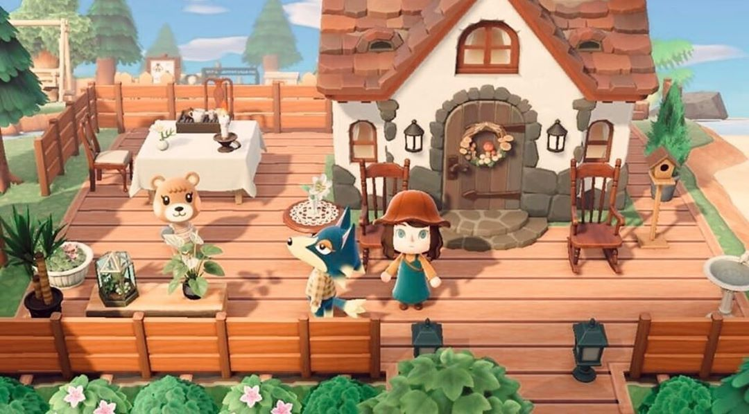 Aesthetics Layout Inspo On Instagram House Exterior Porch Design Credits To Jessieac In 2020 Animal Crossing Villagers Animal Crossing Animal Crossing Qr