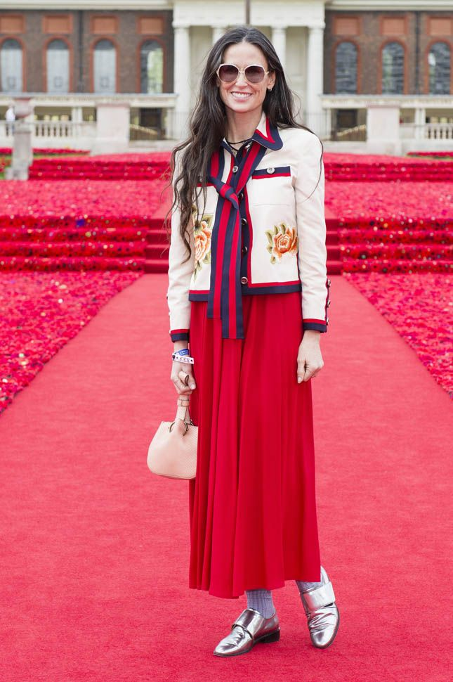 demi moore outfit chelsea flower show - Google Search