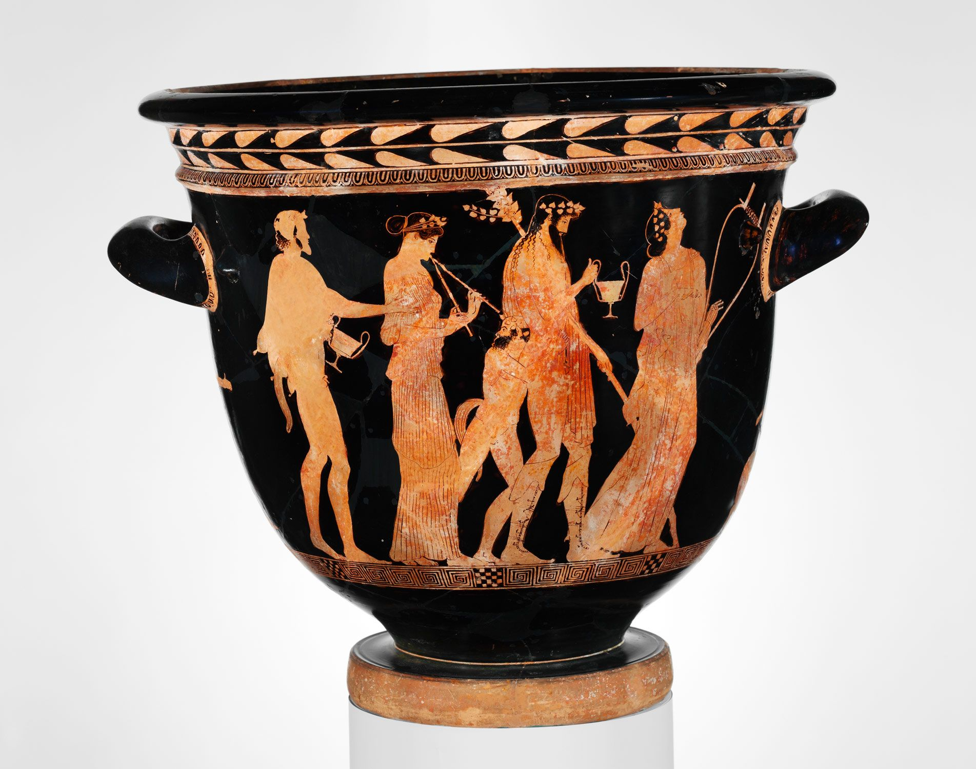 Terracotta bell krater bowl for mixing wine and water attributed terracotta bell krater bowl for mixing wine and water attributed to the methyse floridaeventfo Gallery