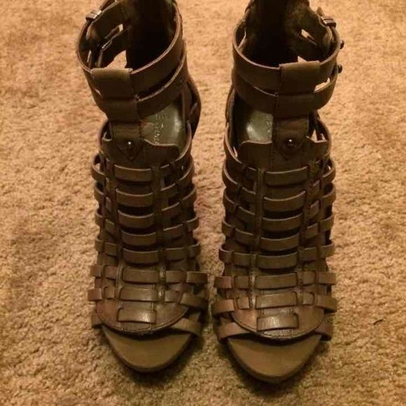 BCBG Generation sandals Taupe, worn once, excellent condition! Paid 120 BCBGeneration Shoes Sandals