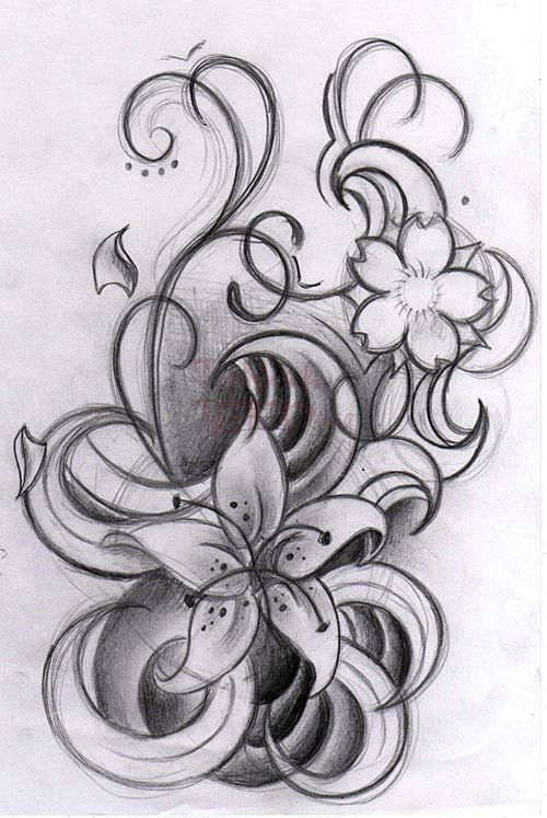 curly flowers by willemxsm tattoo designs 11847 tattoo designs and ideas