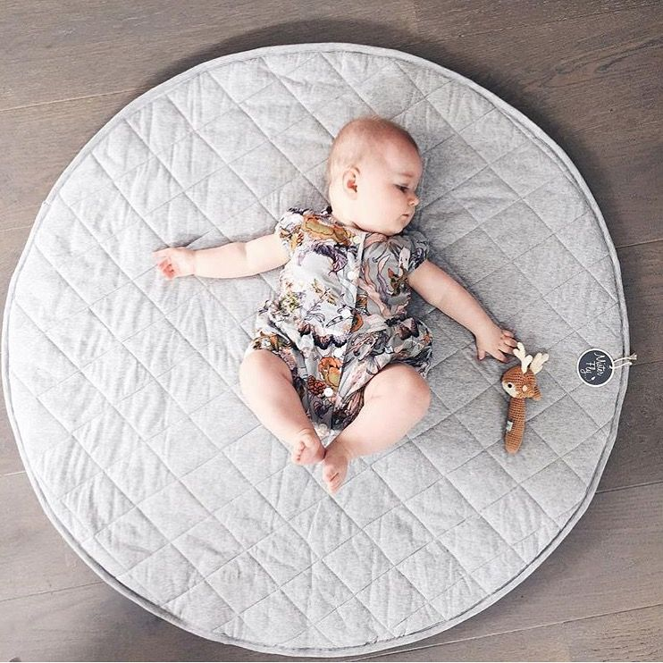 Chambray Quilted Playmat | Living room flooring, Play mats and ... : quilted play mat baby - Adamdwight.com