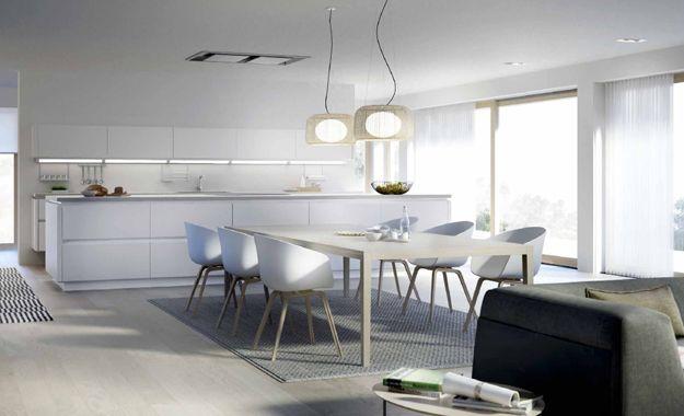 Las cocinas integradas con el sal n son una opci n que - Cocinas integradas ...