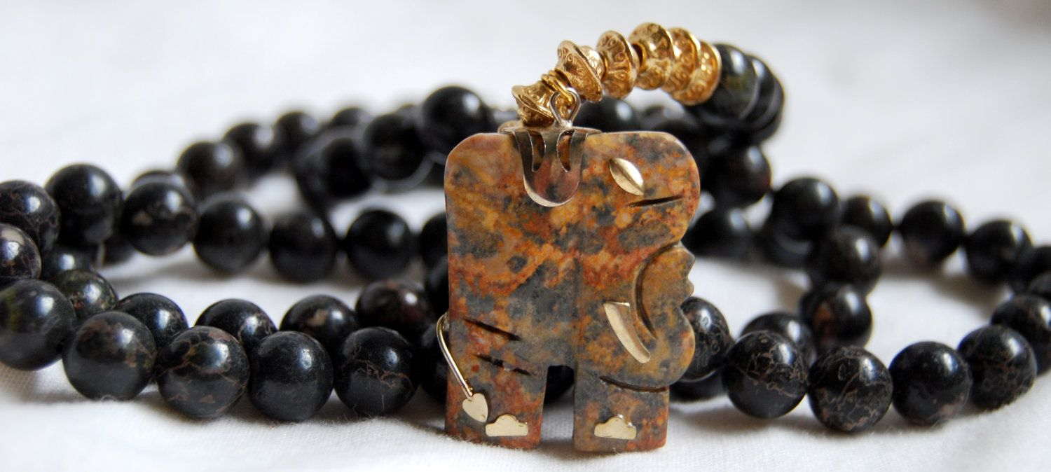 Nannoo  Long Sunset Jasper Necklace with by SarahBelleJewelry, $30.00