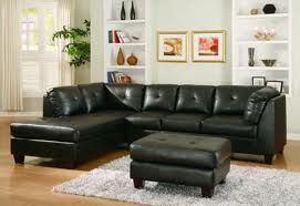 I want an L shaped black leather couch