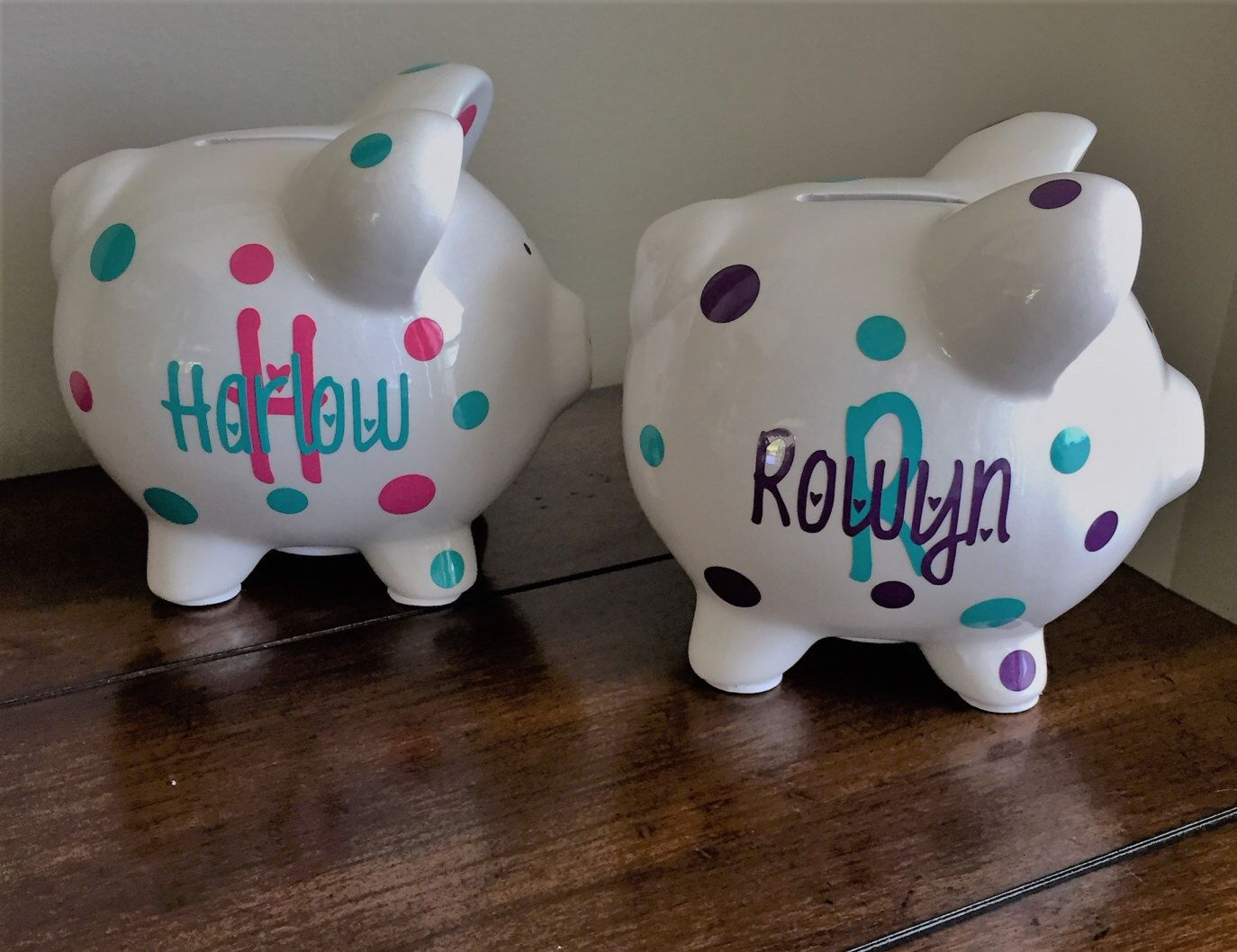 Personalized piggy bank kids piggy bank baby shower gift baby personalized piggy bank kids piggy bank baby shower gift baby shower gifts negle Choice Image