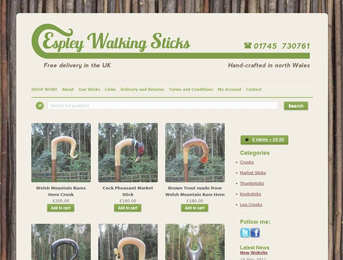 Espley Walking Sticks Cool Websites Web Design Web Design Agency