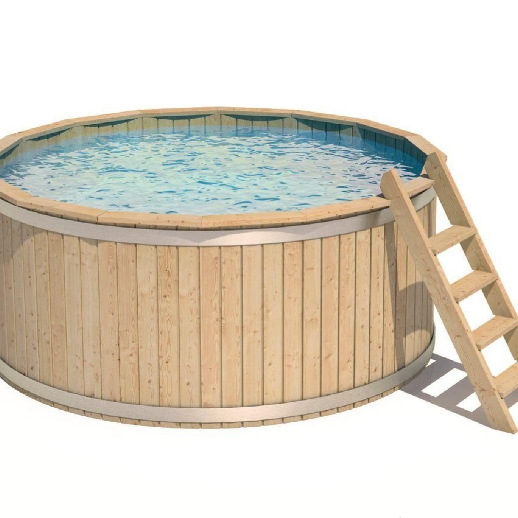 Tonnensauna Ch Holzpool Swimmingpool Schwimmbecken