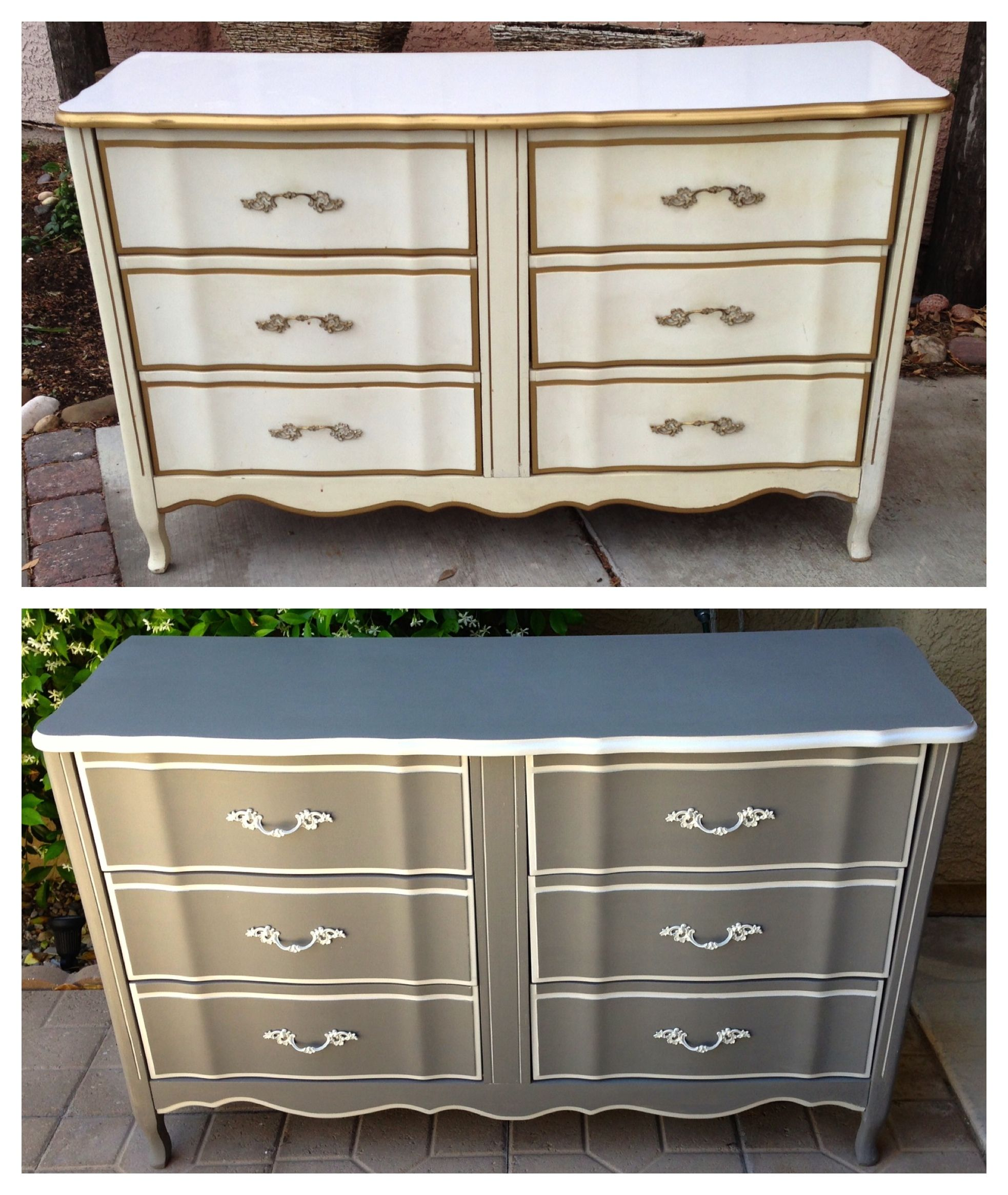 Vintage, shabby, refinished, painted