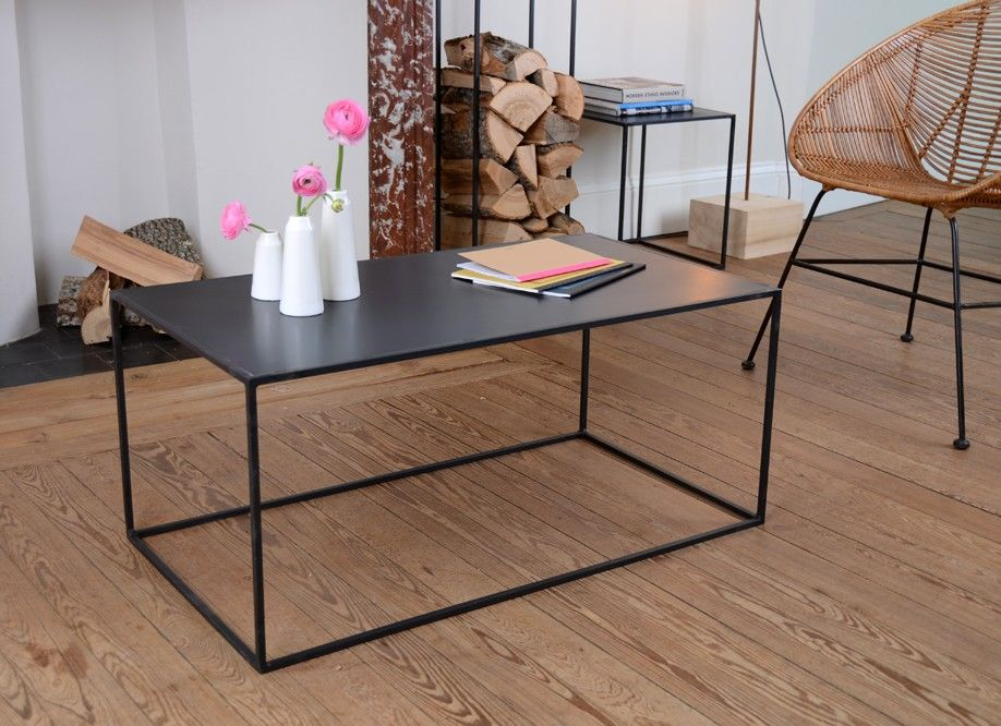 Table Basse Metal 120x75x40 Ou 90x90x40 Table Basse Table Basse Metal Deco Interieure