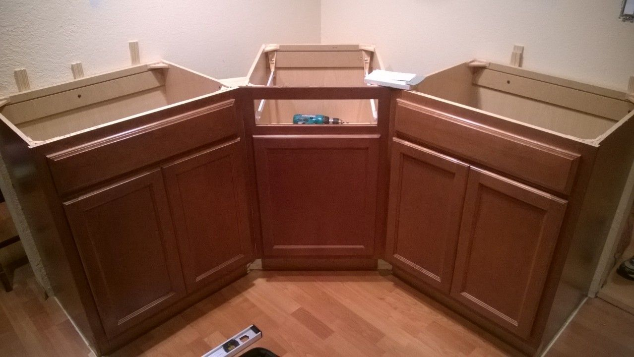 Image result for drawers in angled corner cabinet (With ...
