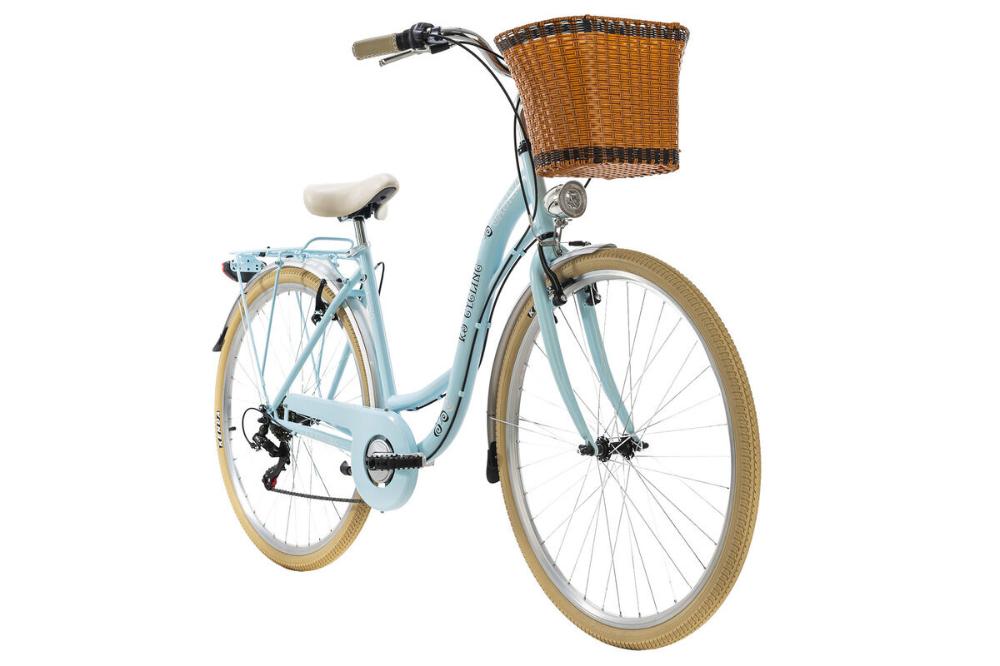KS Cycling ladies bike Casino 28 inch with basket blue