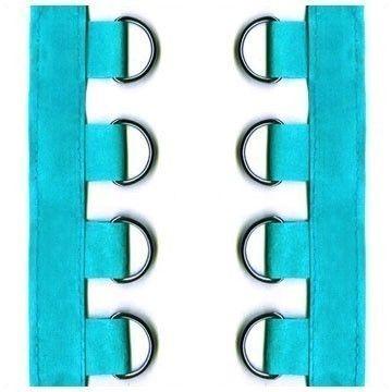 4 yards turquoise suede dring tape corset diy punk eyelet