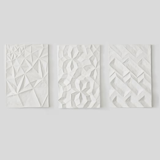 Papier Mache Wall Art - Geo Panel | west elm & Papier-Mache Wall Art - Geo Panel | Pinterest | Papier mache Walls ...