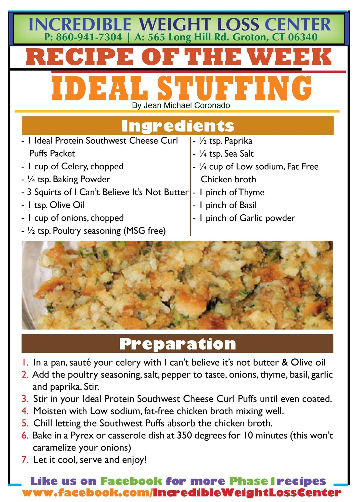 IP Stuffing  Ideal protein recipes, Ideal protein diet, Ideal protein