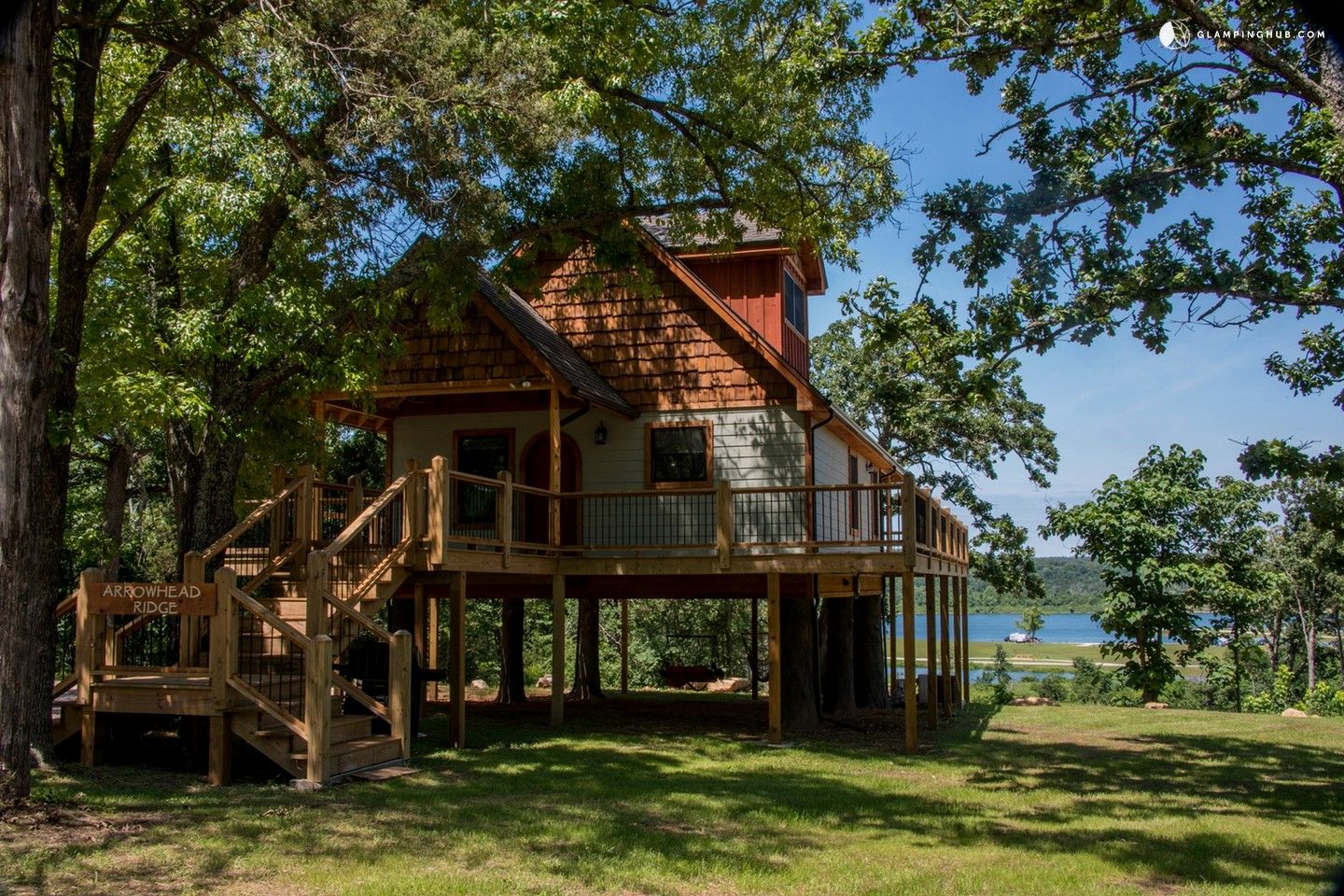 in rental arkansas two quiet great cabins eureka with a the relaxing lake adds house holiday decks to springs romantic private tubs hot view tub stacked