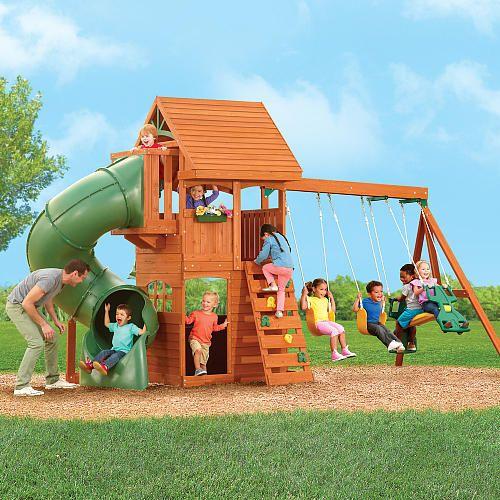 Berkley Wood Gym Set Big Backyard Toys Quot R Quot Us 193 Reas De Juego Parques Y Juegos