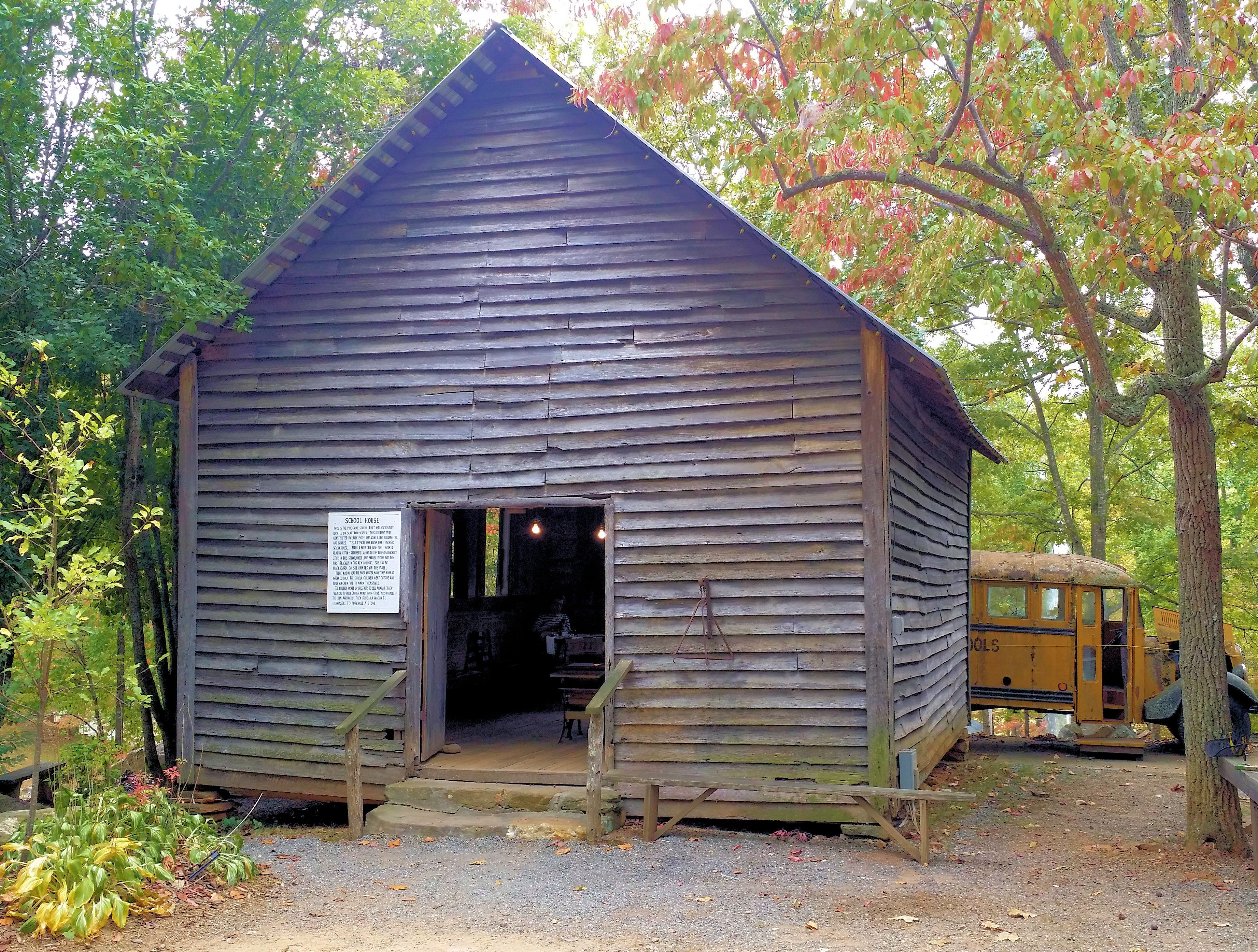 The Old Pine Grove One Room School House Circa Early 1900s The