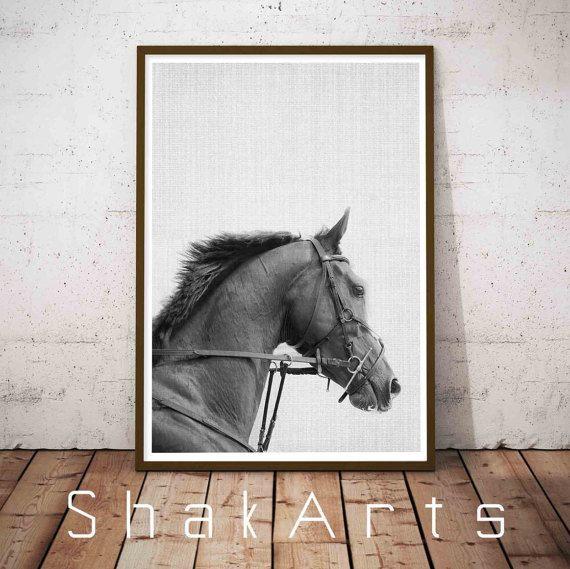 Horse print horse photo horse photography horse art black horse instant