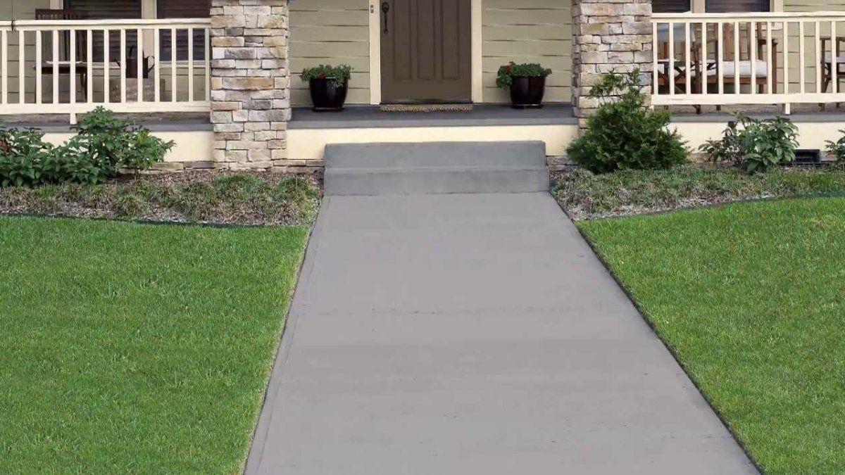 Retro Patio Design With Attractive Plain Grey Patio
