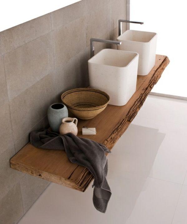 rustikaler Waschtisch Holz Badezimmermöbel Pinterest Interiors