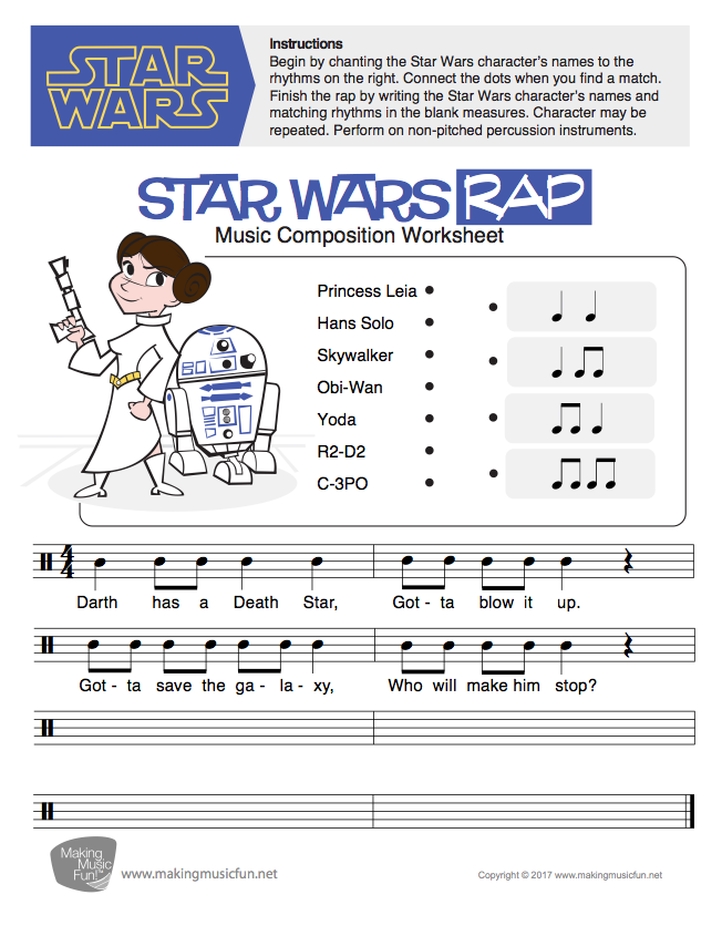 Star wars rap music composition lesson and worksheet digital star wars rap music composition lesson and worksheet digital print visit makingmusicfun for 500 childrens songs with history fun facts ibookread ePUb