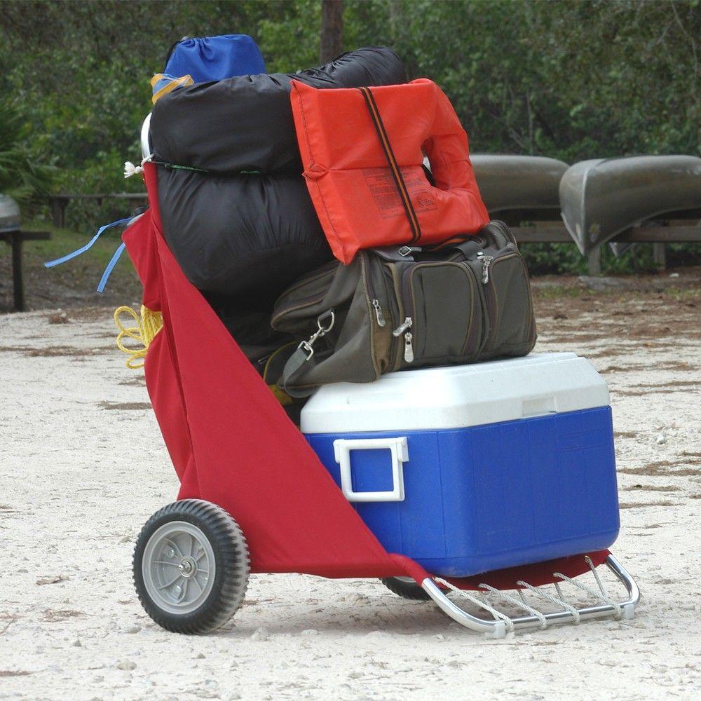 Folding Beach Cart with Wheels   Camping Carts   Beach fishing cart