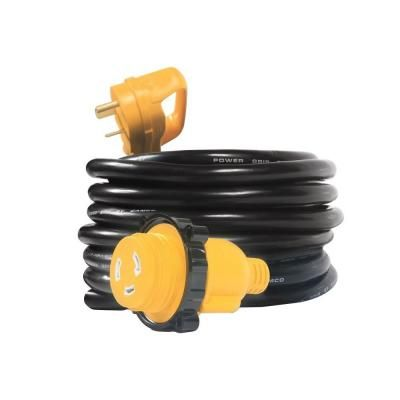 Camco 25 Ft 30m 30f Extension Cord Locking Adapter Cord Extension Cord Rv Accessories