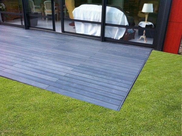 petite plateforme deco en lames terrasse composite - Lames Optima