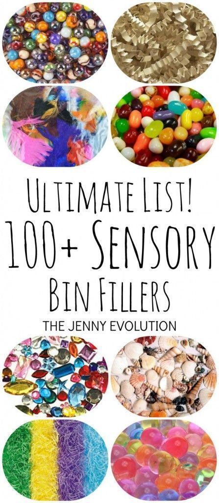 Ultimate List of 100+ Sensory Bin Fillers   So much fun for speech therapy!