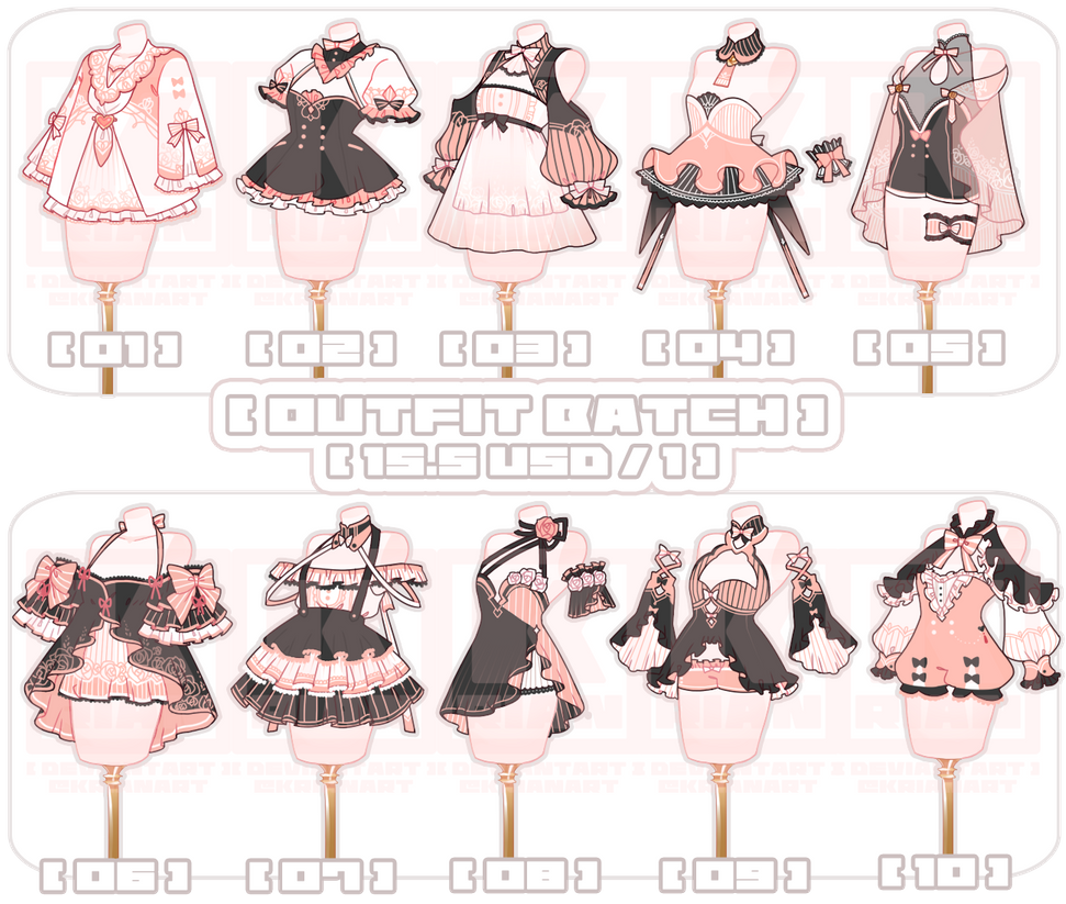 [SET PRICECLOSE]OUTFIT BATCH by krianart on DeviantArt in