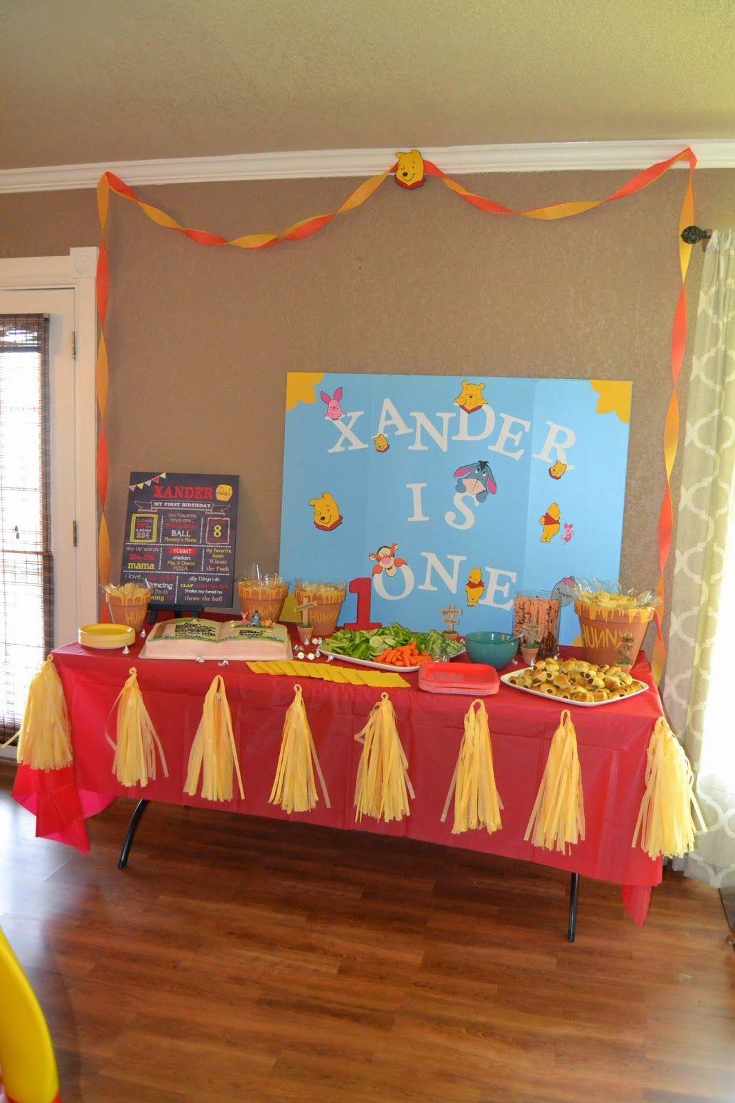 Xanders First Birthday Party Winnie the Pooh via amandafadler
