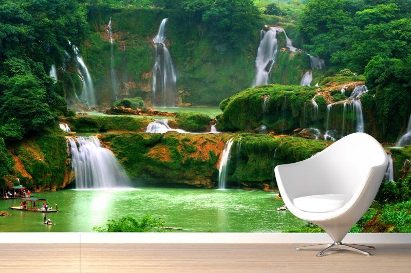 Asian Waterfall Wallpaper Mural Waterfall wallpaper