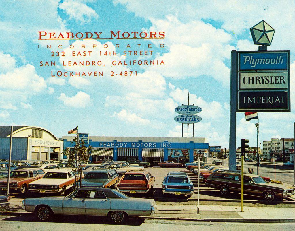 1970 S Peabody Motors Chrysler Plymouth Dealership San Leandro