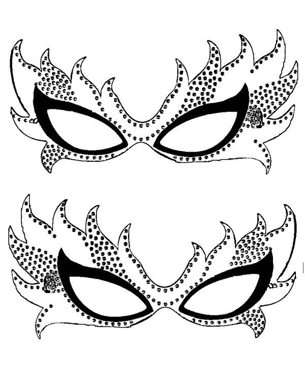 Mardi Gras Masks Coloring Pages | Teach Holidays | Pinterest | Mardi ...