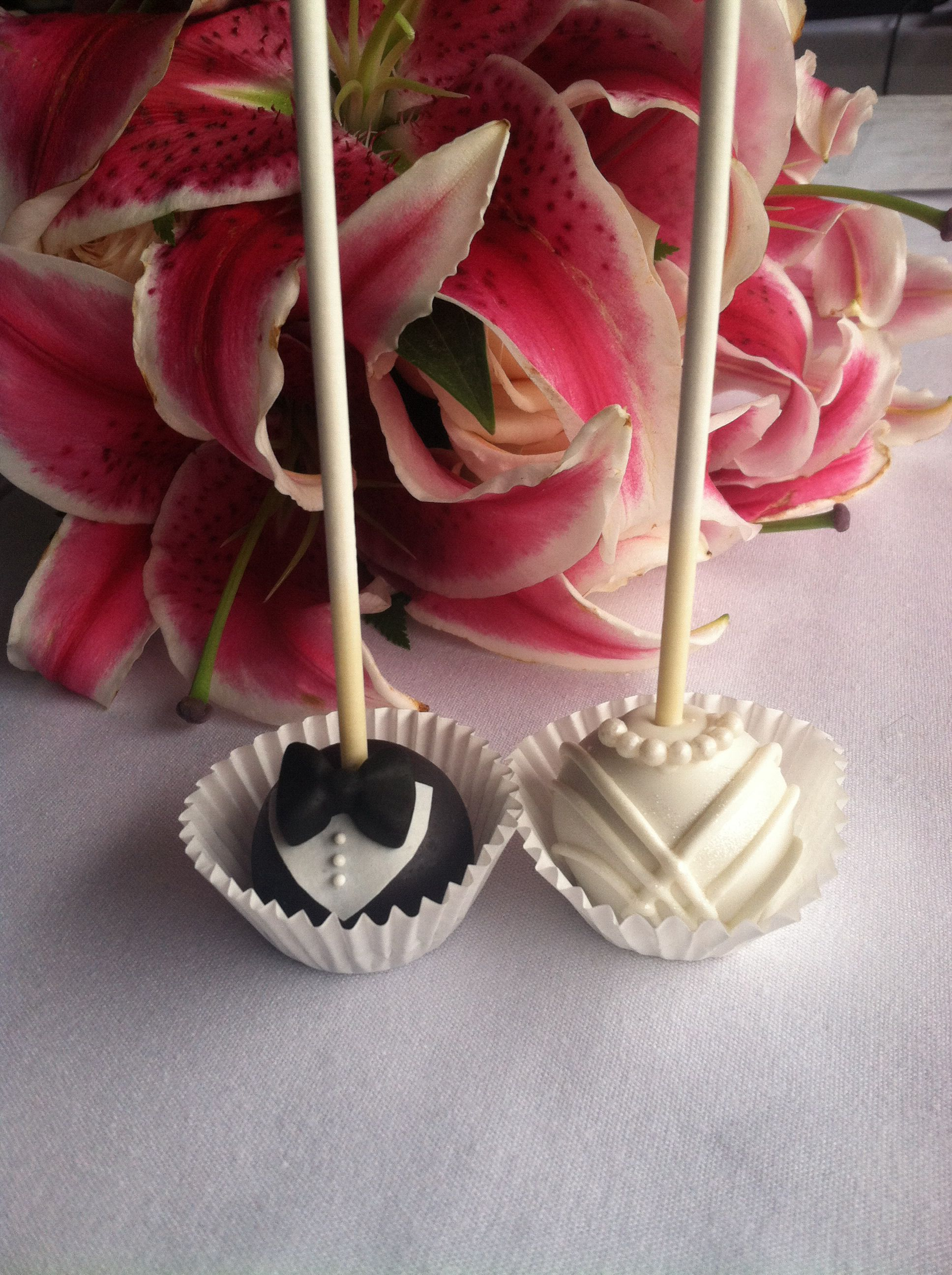 Wedding cake pops by the dapper dipper on etsy sy