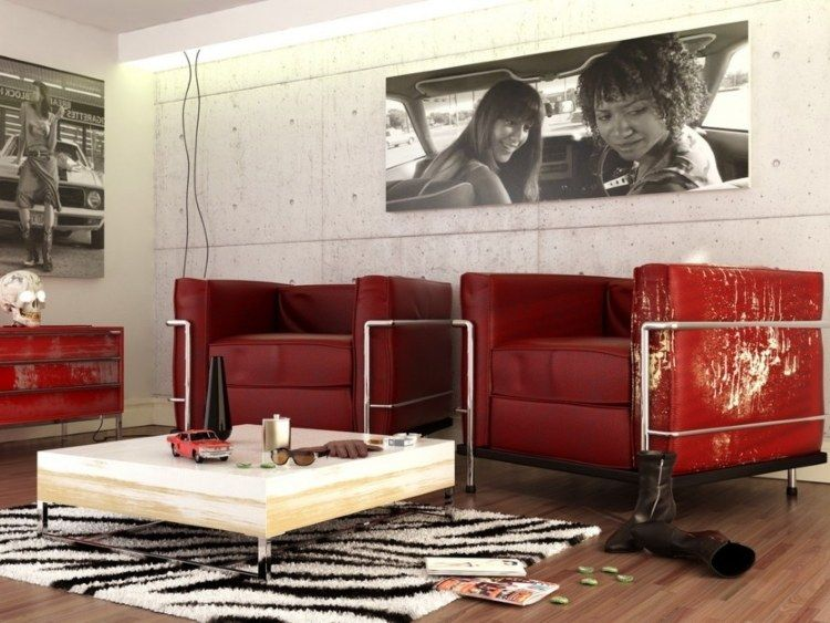 Salon En Cuir Ou En Tissu Quels Canap S Et Fauteuils Choisir Loft Design And Rouge