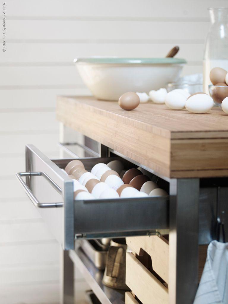 Rimforsa arbetsbord 3995 kr i bambu och rostfritt st l har for Ikea rimforsa work bench