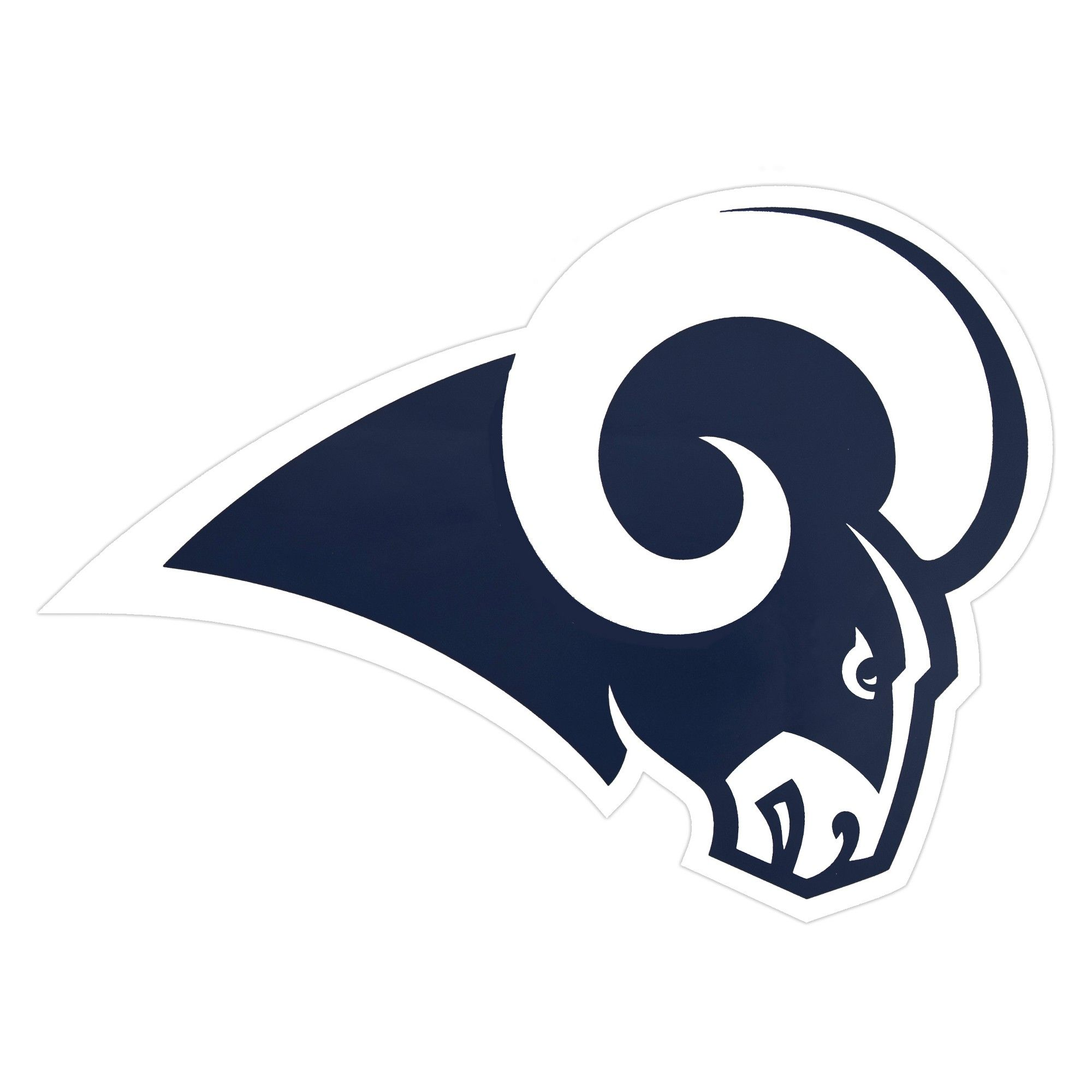 Nfl Los Angeles Rams Small Outdoor Logo Decal Outdoor Logos Nfl Los Angeles Los Angeles Rams