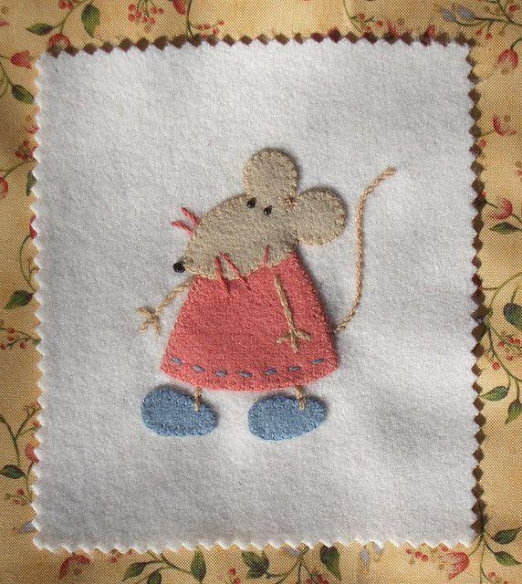 Cute idea for a quilt block: prairie mouse